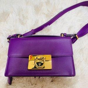 74d65bbe50 Salvatore Ferragamo Grape Calf Rosso Skin Hobo Bag